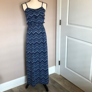 charming charlie size small blue maxi dress